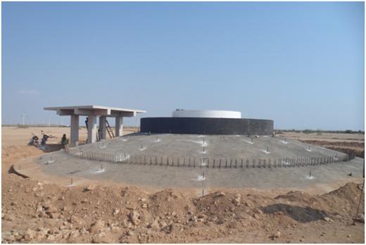 部分风机基础混凝土浇筑施工完工图片